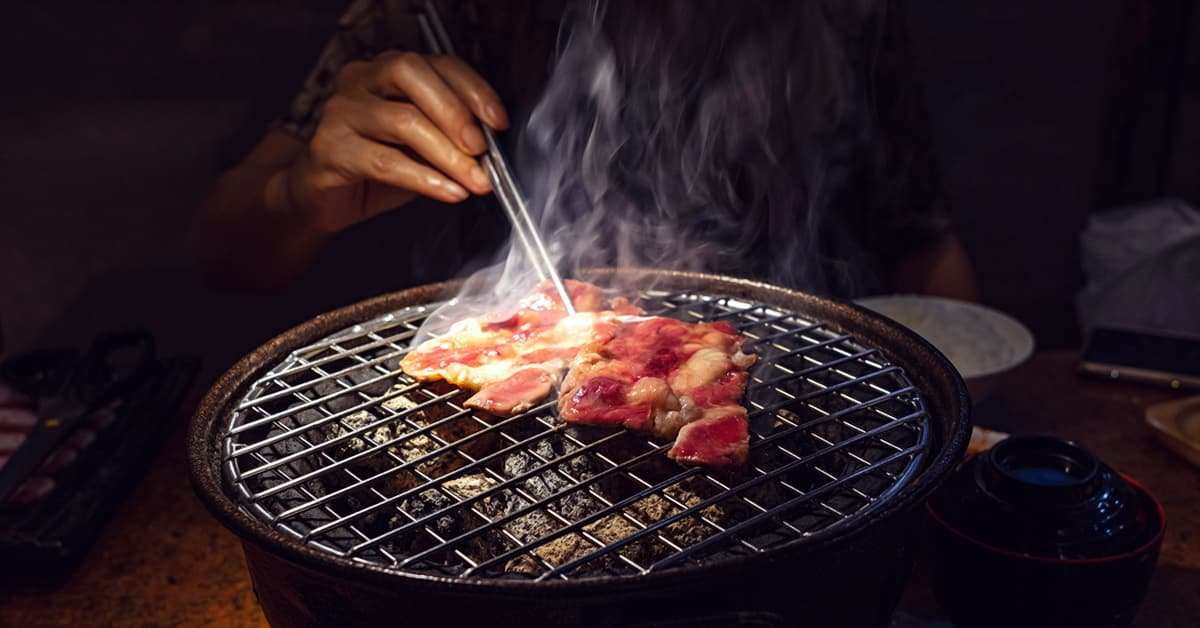 What is yakiniku - grill with meat, smoke