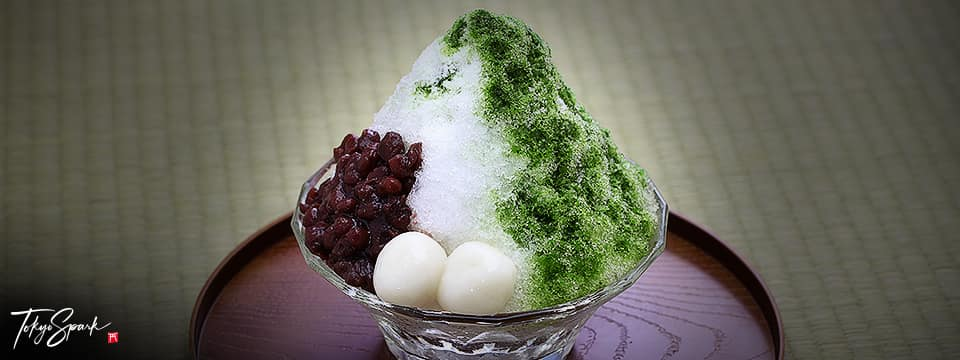 Matcha and anko kakigori